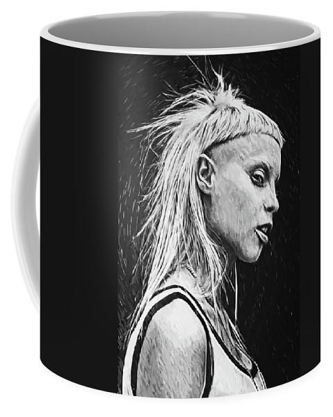Yolandi Visser Coffee Mug featuring the digital art Yolandi Visser by Zapista Zapista