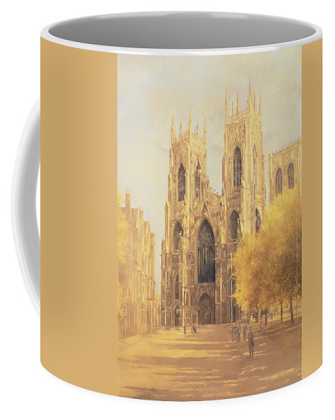 York Minster Coffee Mug featuring the painting York Minster by Peter Miller