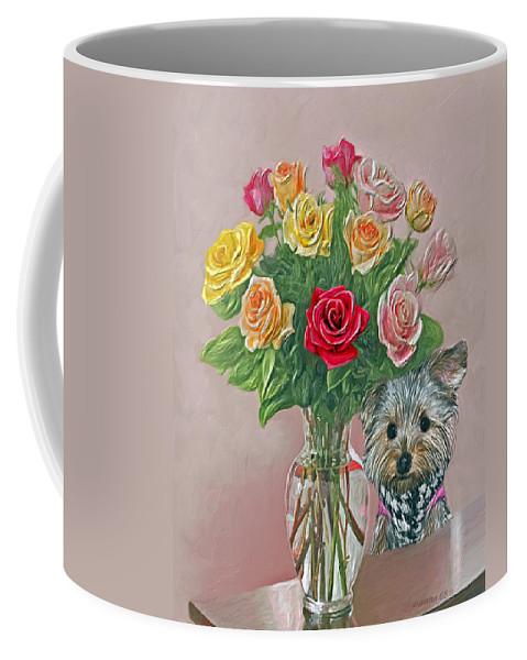 Roses Coffee Mug featuring the painting Yorkey Rose by Susanna Katherine