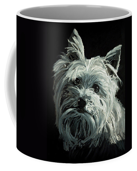 Animals Coffee Mug featuring the painting Yorkie by Portraits By NC