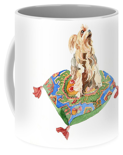 Yorkshire Terrier Coffee Mug featuring the painting Yorkshire Terrier by Jennifer Abbot