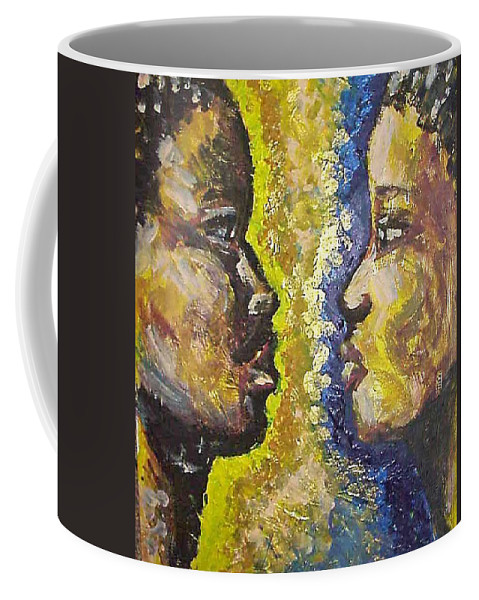 Coffee Mug featuring the painting You And I by Jan Gilmore