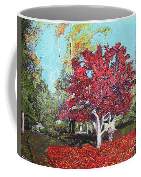 Tree Coffee Mug featuring the painting You Are My Heart by Stefan Duncan