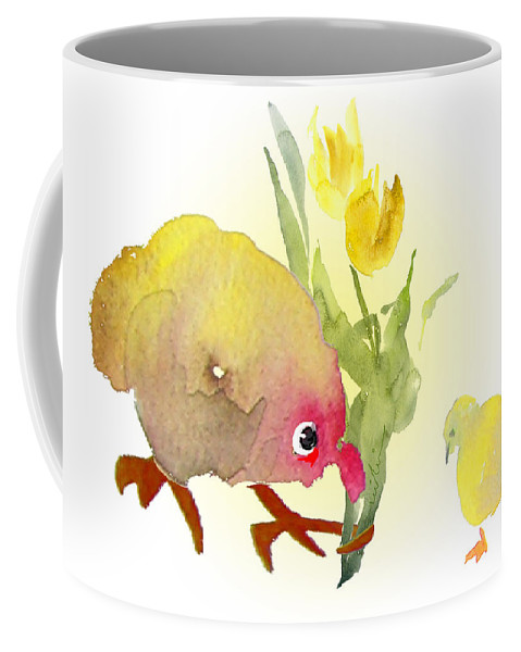 Love Greeting Cards Coffee Mug featuring the painting You Are The Cutest Thing Ever by Miki De Goodaboom
