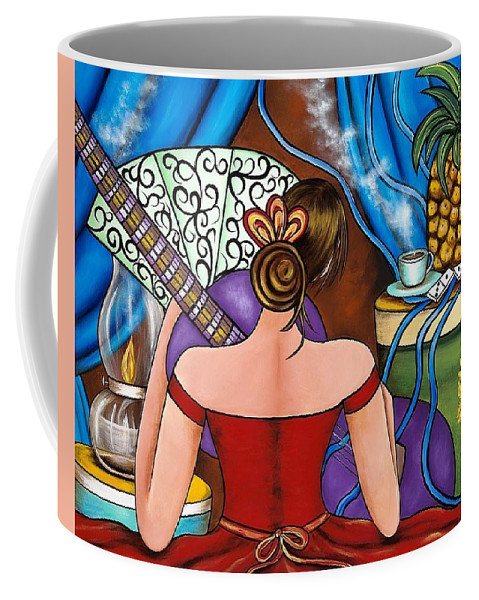 Cuba Coffee Mug featuring the painting You Belong To Me by Annie Maxwell