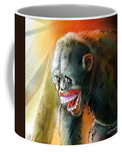 Fun Coffee Mug featuring the painting You Crack Me Up by Miki De Goodaboom