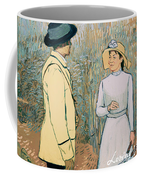 Coffee Mug featuring the painting You Don't Want to Stay There by Olga Krolak
