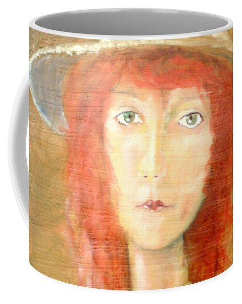 Woman Coffee Mug featuring the painting You Found My Hat by J Bauer