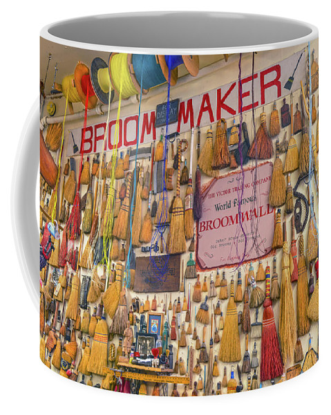Whisk Broom Wall Coffee Mug featuring the photograph You Live In A $ 300,000 House And You Have A Plastic Broom ? That's Unacceptable by Bijan Pirnia