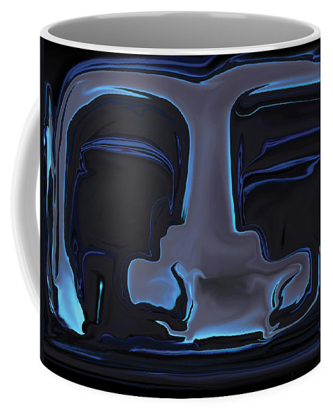 Black Coffee Mug featuring the digital art You N Me by Rabi Khan