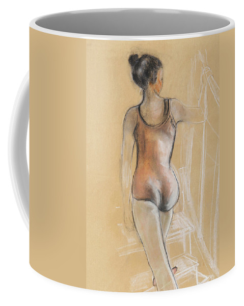 Dancer Coffee Mug featuring the painting Young Ballerina by Susan Adams