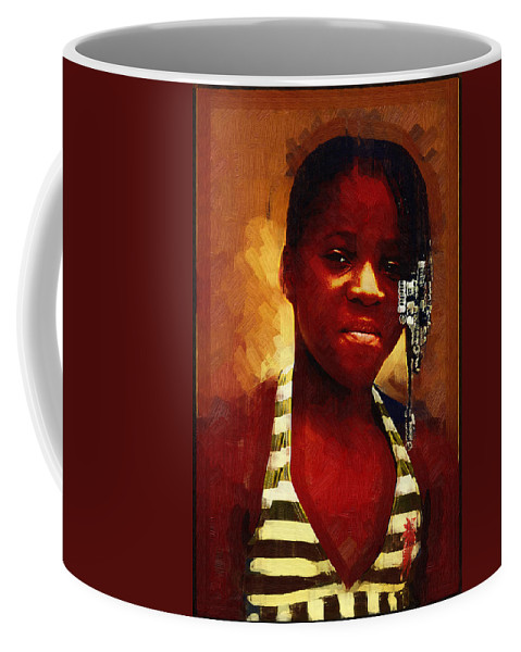 Beautiful Black Children Coffee Mug featuring the photograph Young Black Female Teen 1 by Ginger Wakem