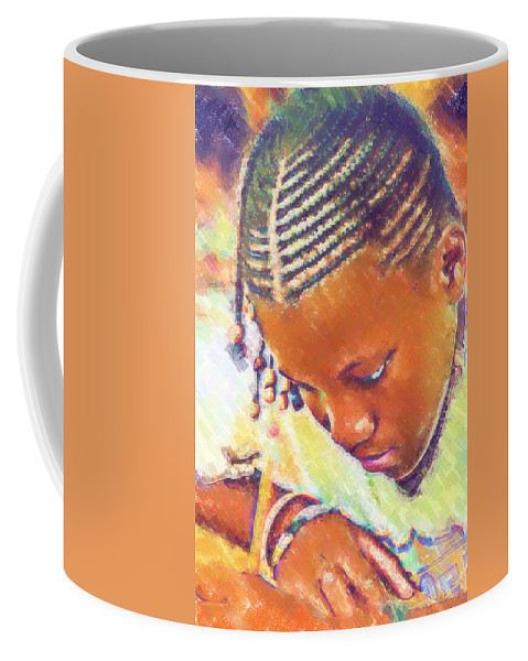 Beautiful Black Children Coffee Mug featuring the photograph Young Black Female Teen 2 by Ginger Wakem