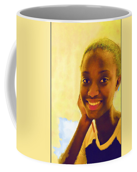 Black Coffee Mug featuring the photograph Young Black Female Teen 3 by Ginger Wakem