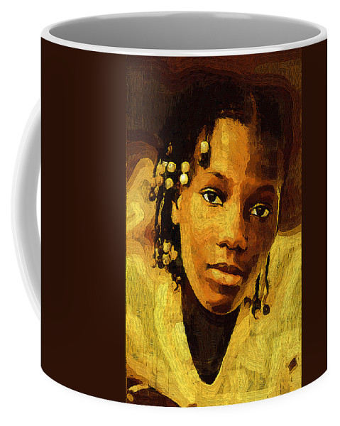Female Coffee Mug featuring the photograph Dreadlocks And Beads by Ginger Wakem