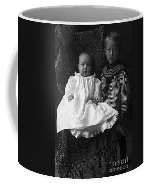 Science Coffee Mug featuring the photograph Young Ernest Lawrence And Brother, 1904 by Science Source