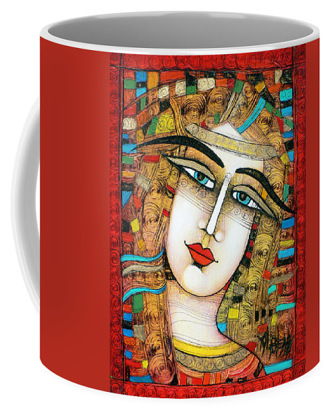 Girl Coffee Mug featuring the painting Young Girl by Albena Vatcheva