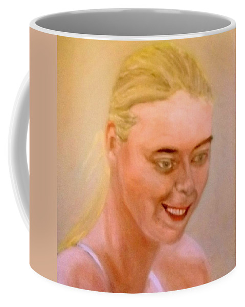 Young Coffee Mug featuring the painting Young Maria by Peter Gartner
