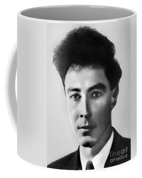 Science Coffee Mug featuring the photograph Young Robert Oppenheimer by Science Source