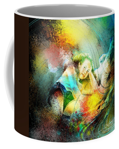 Nature Coffee Mug featuring the painting Young Seduction by Miki De Goodaboom