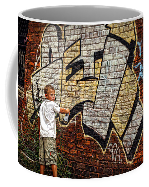 Young Coffee Mug featuring the photograph Young Vandal Too by Gordon Dean II