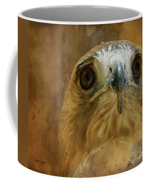 Hawk Coffee Mug featuring the photograph Your Majesty by Lois Bryan