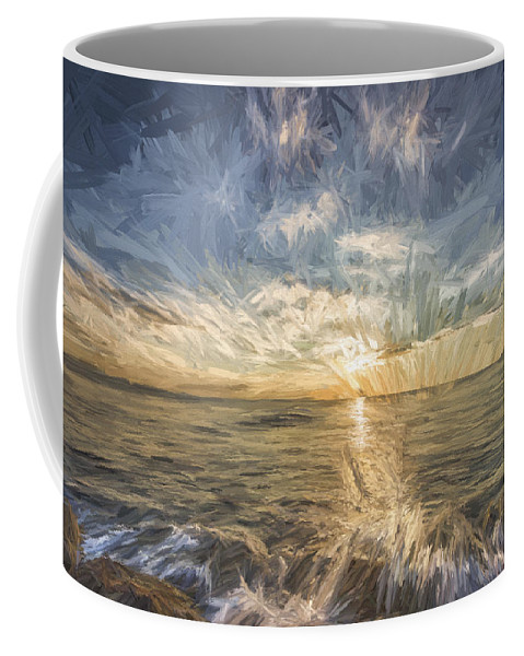Amber Coffee Mug featuring the digital art Your My Sun II by Jon Glaser