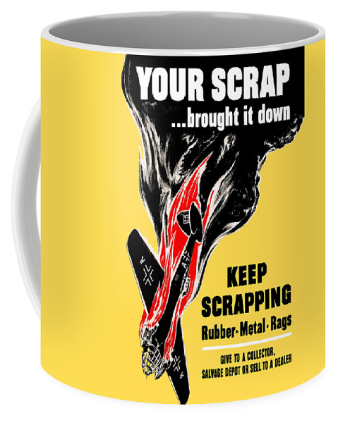 German Plane Coffee Mug featuring the painting Your Scrap Brought It Down by War Is Hell Store