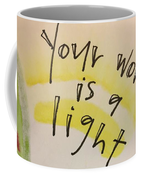 Light Coffee Mug featuring the painting Your Word is a Light by Vonda Drees