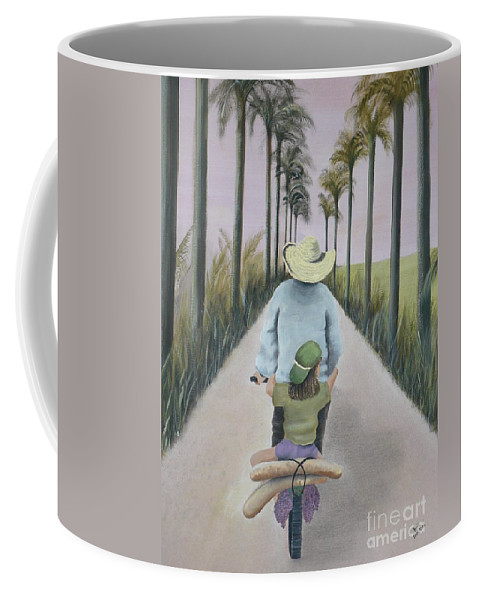 Tropical Coffee Mug featuring the painting You're The Best by Kris Crollard