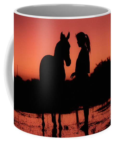 Silhouette Coffee Mug featuring the photograph Youth by Jim And Emily Bush