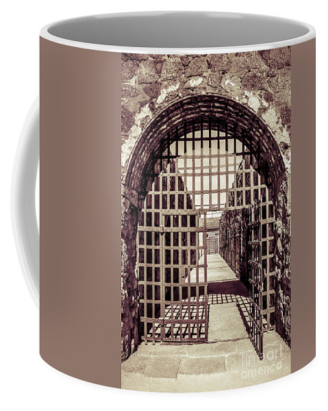 Architecture Coffee Mug featuring the photograph Yuma Territorial Prison Gate by Robert Bales