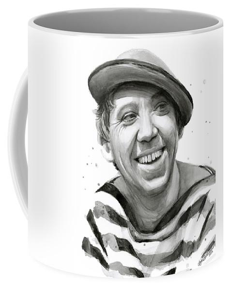 Yuriy Nikulin Coffee Mug featuring the painting Yuriy Nikulin Portrait by Olga Shvartsur