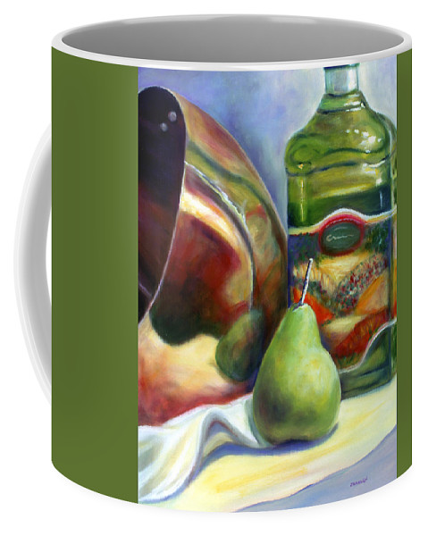 Copper Vessel Coffee Mug featuring the painting Zabaglione Pan by Shannon Grissom