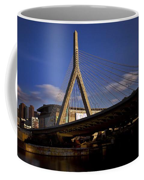 Boston Coffee Mug featuring the photograph Zakim Bridge And Boston Garden At Sunset by Rick Berk