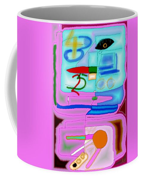 Zapp Coffee Mug featuring the digital art Zapp by Helmut Rottler