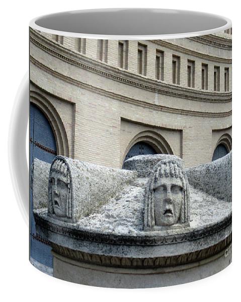 Zaragoza Coffee Mug featuring the photograph Zaragoza Sculpture 7 by Randall Weidner