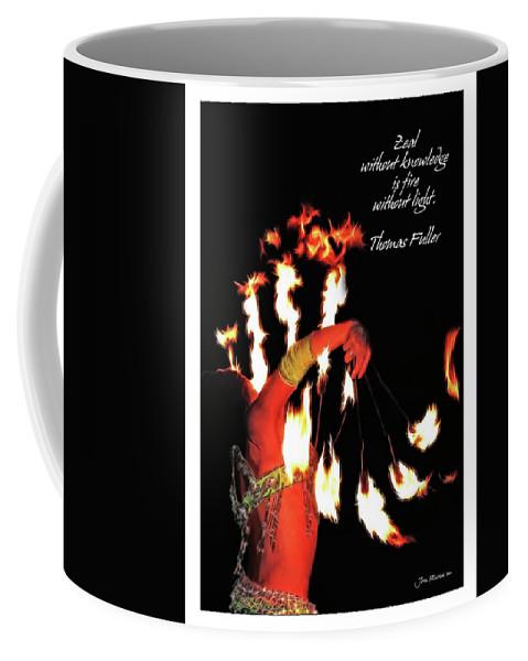 Success Coffee Mug featuring the digital art Zeal Quote by Joan Minchak