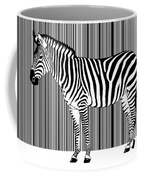 Africa Coffee Mug featuring the digital art Zebra Barcode by Monika Juengling