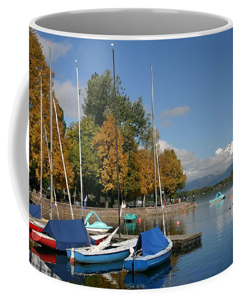 Sail Boats Coffee Mug featuring the photograph Zell Am See The Elements In Austria by Minaz Jantz