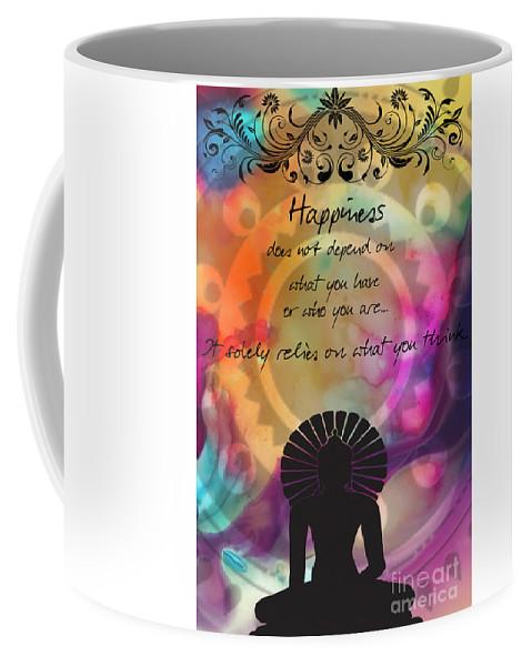 zen art inspirational buddha quotes happiness coffee mug for