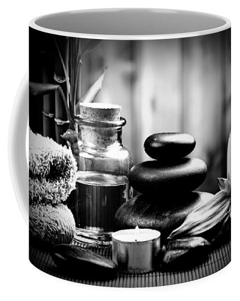 Peace Coffee Mug featuring the digital art Zen by Katie Irwin Flather