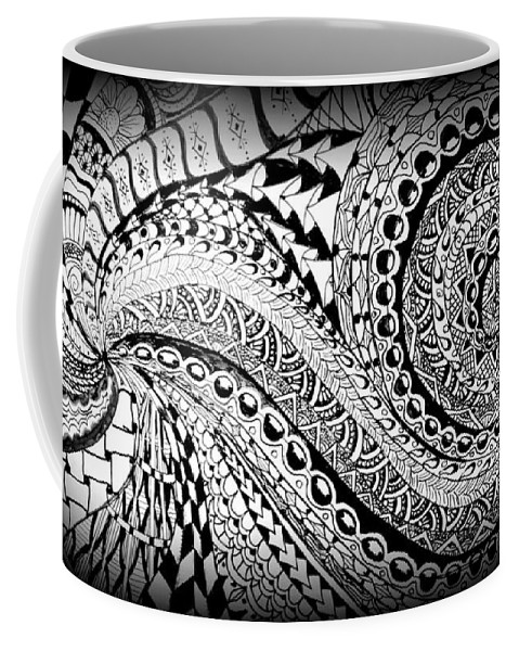 Abstract Coffee Mug featuring the photograph Zen Tangle 1 by Jeff Watts