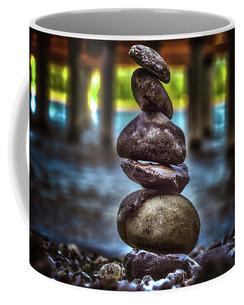 Abstract Coffee Mug featuring the photograph Zen Under The Dock by Josh Smith Photography