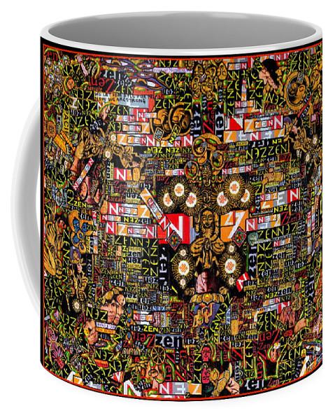 Zen Coffee Mug featuring the mixed media Zengine by Peter Gumaer Ogden