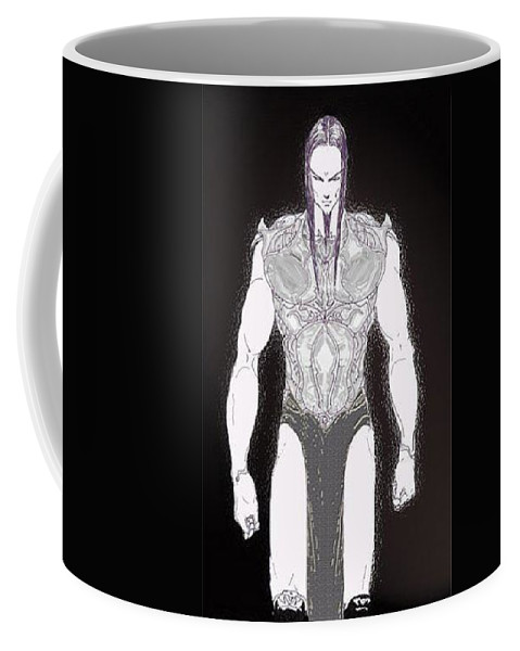 Fantasy Art Coffee Mug featuring the digital art Zero Zero by Taylan Fidan