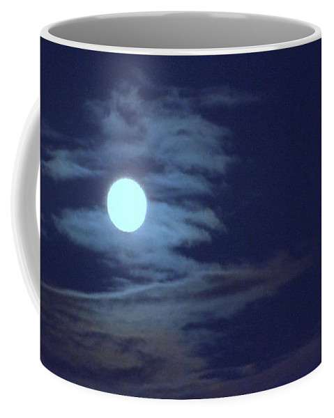 Moon Coffee Mug featuring the photograph Zig Zag Moon by Mary Deal