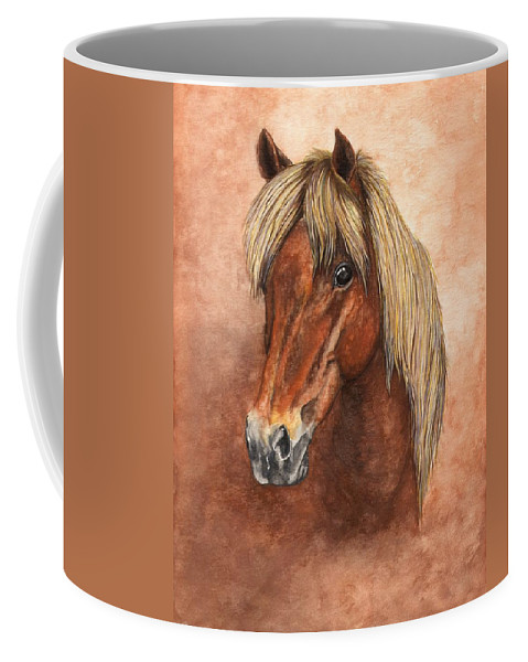 Pony Coffee Mug featuring the painting Ziggy by Kristen Wesch