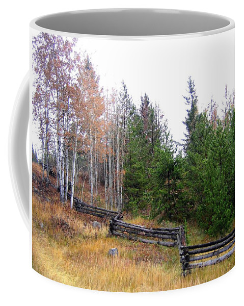 Zigzag Rail Fence Coffee Mug featuring the photograph Zigzag Rail Fence by Will Borden