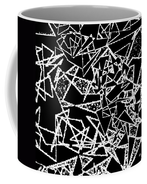 Abstract Coffee Mug featuring the digital art Zigzag by Will Borden